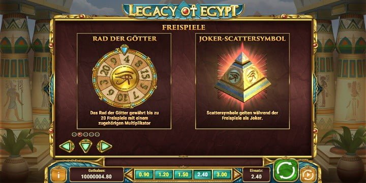 Legacy of Egypt Freispiele