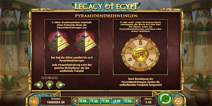 Legacy of Egypt Pyramidendrehungen