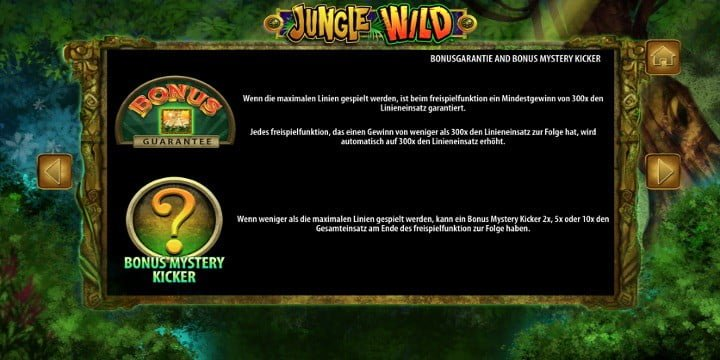 Jungle Wild Bonusgarantie