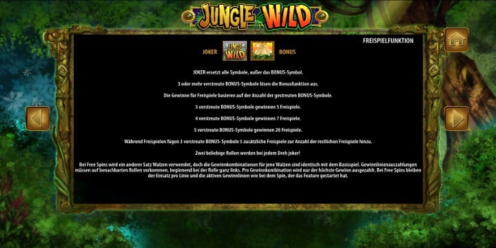 Jungle Wild Bonussymbole
