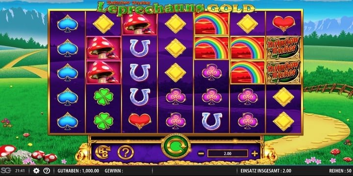 Rainbow Riches Leprechauns Gold Spielautomat