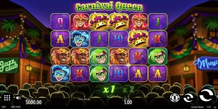 Carnival Queen Video-Slot von Thunderkick