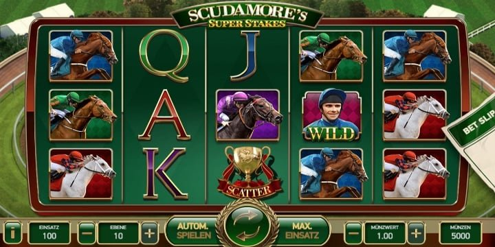 Video-Slot Scudamores Super Stakes Net Entertainment