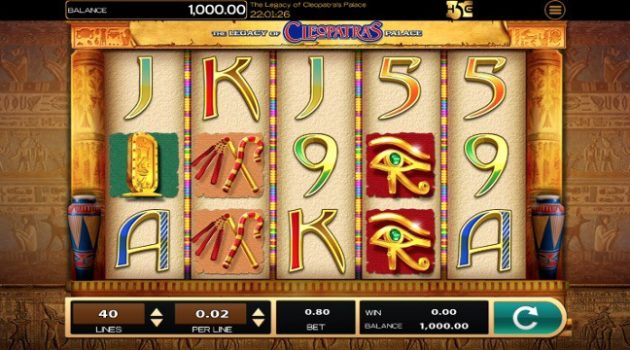 Video-Slot The Legacy of Cleopatra's Palace High 5 Games
