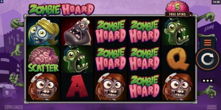 Video-Slot Zombie Hoard Slingshot