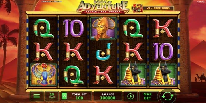 Slot Book of Adventure Stakelogic