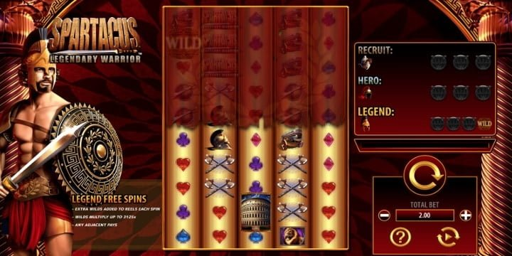 Slot Spartacus Legendary Warrior SG Digital