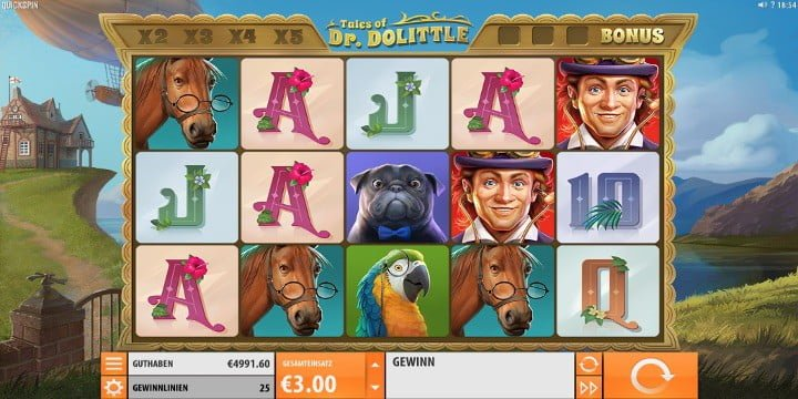 Slot The Tales of Dr. Dolittle Quickspin