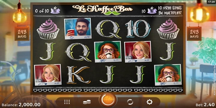 Slot Le Kaffee Bar Microgaming