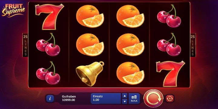 Slot Fruit Supreme: 25 Lines Playson