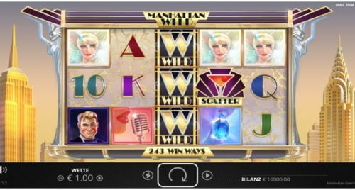 Slot Manhattan Goes Wild Nolimit City