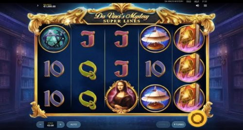Slot Da Vinci's Mystery: Super Lines Red Tiger