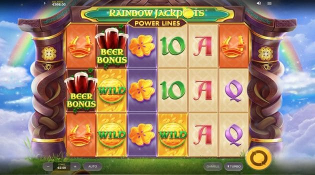 Rainbow Jackpots Power Lines Slot Red Tiger