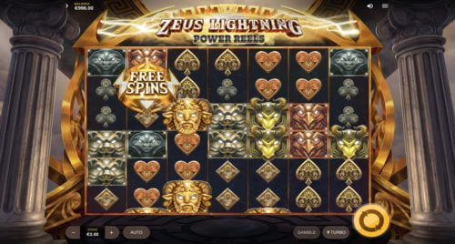 Zeus Lightning Power Reels Slot Red Tiger