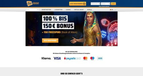 Bonus Bet3000 Casino