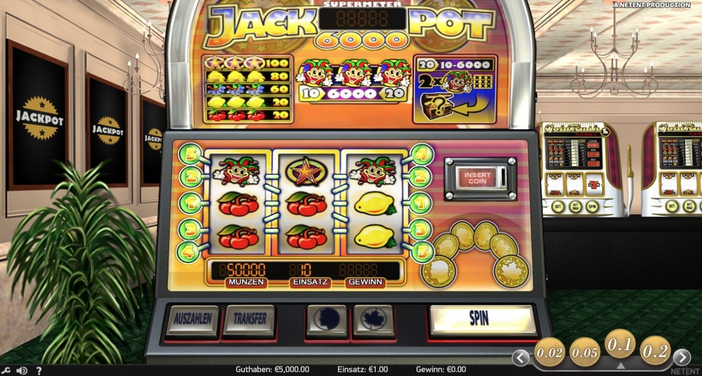 Jackpot 6000 Slot Net Entertainment