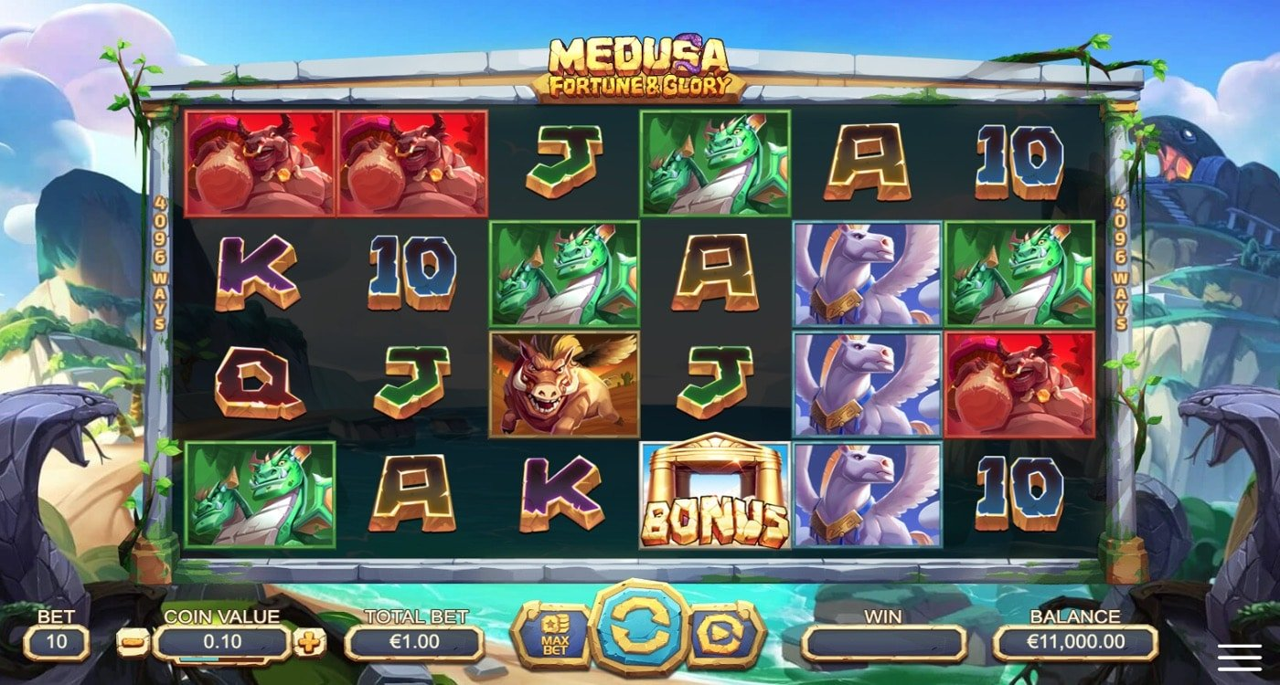 Medusa Fortune and Glory Slot Yggdrasil