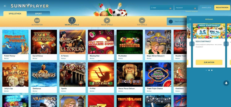 Aktionen Sunnyplayer Casino