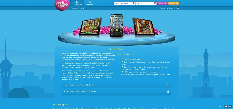 App Vera & John Casino