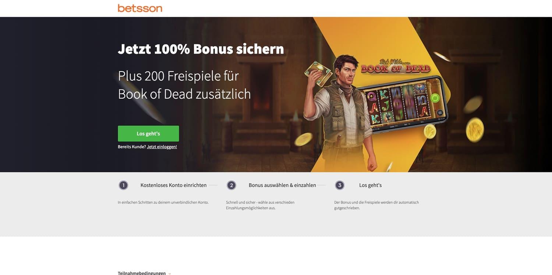 Bonus Betsson Casino