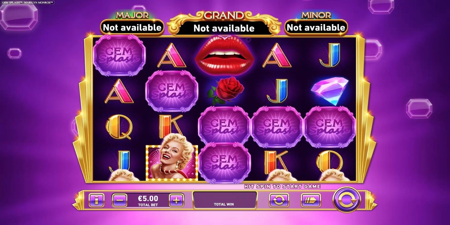 Gem Splash Marilyn Monroe Slot Playtech