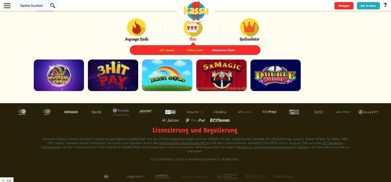 Klassische Slots Kassu Casino