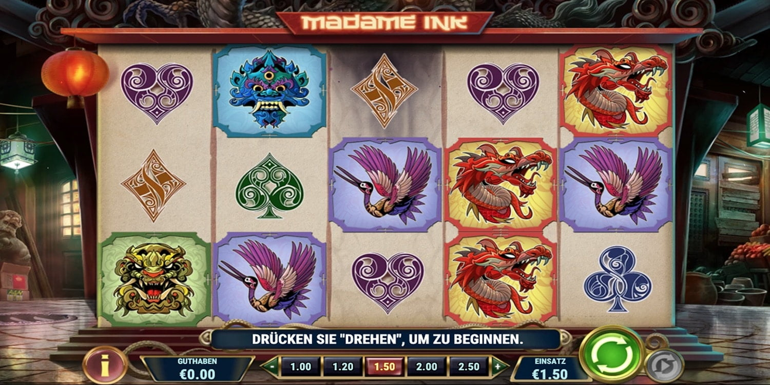 Madame Ink Slot Play'n Go