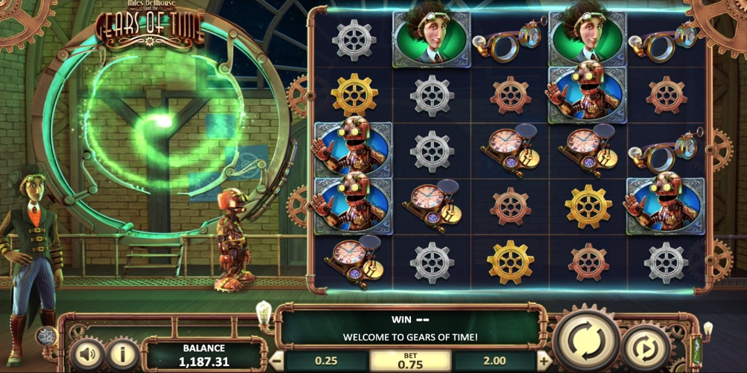 Miles Bellhouse and the Gears of Time Slot BetSoft Gaming