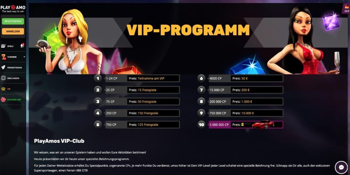 Playamo Casino VIP