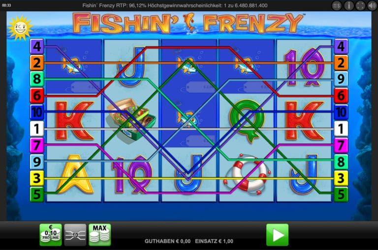 Fishin Frenzy Casino & Slot Test