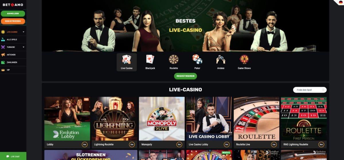 Betamo Casino Live Casino