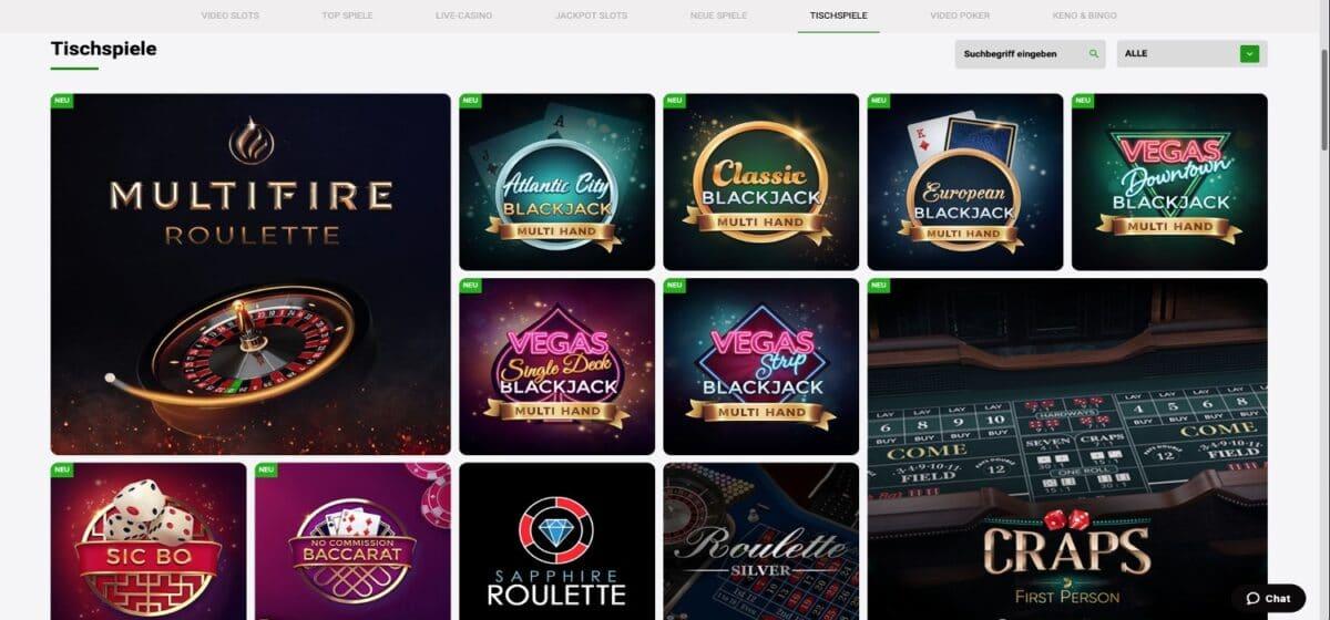 Zodiac Bet Casino Tischspiele