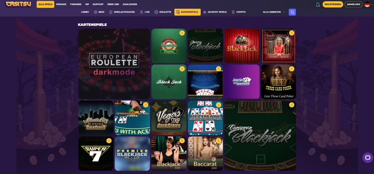 Casitsu Casino Kartenspiele