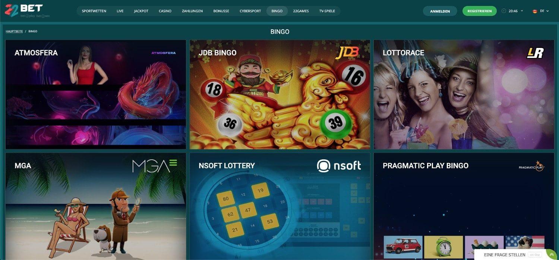22Bet Casino Bingo